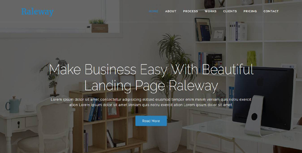 ThemeForest Raleway Bootstrap Agency Template 20259101