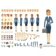 Character Constructor of Business Woman. Cartoon