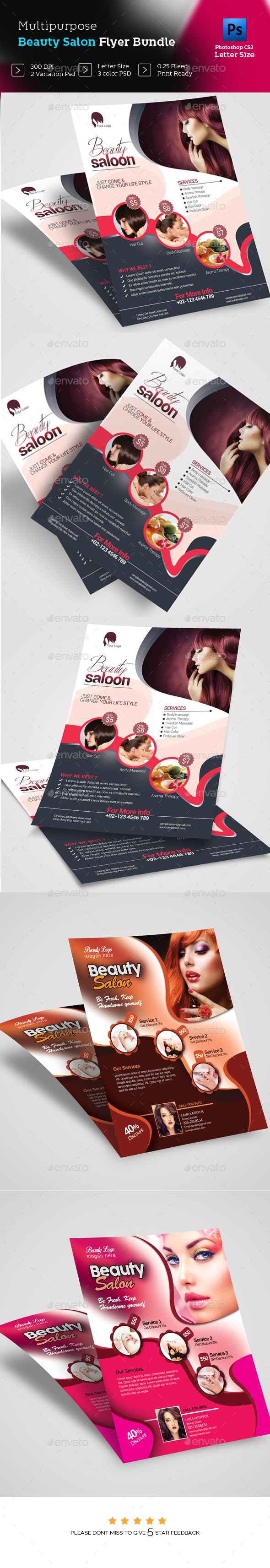 Beauty Salon Flyer Bundle