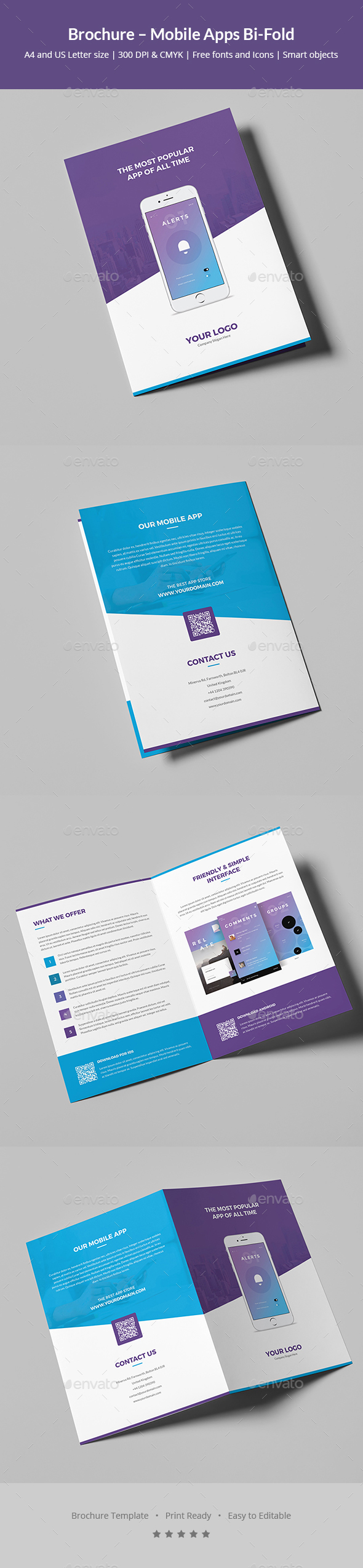 GraphicRiver Brochure Mobile Apps Bi-Fold 20365360