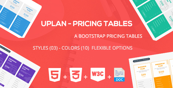 Uplan - Pricing Tables Framework - CodeCanyon Item for Sale