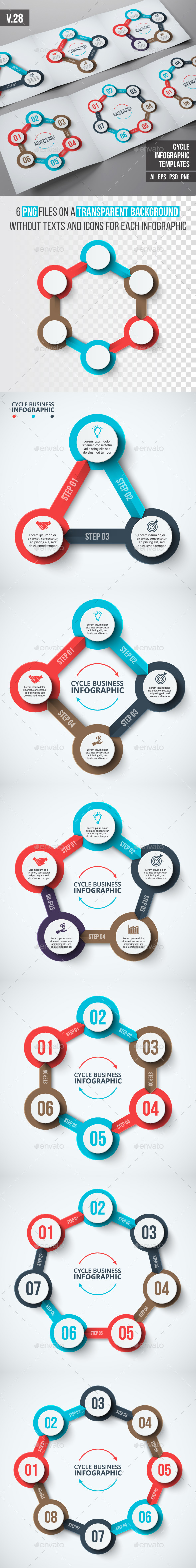 GraphicRiver Infographics template set v.28 20365526