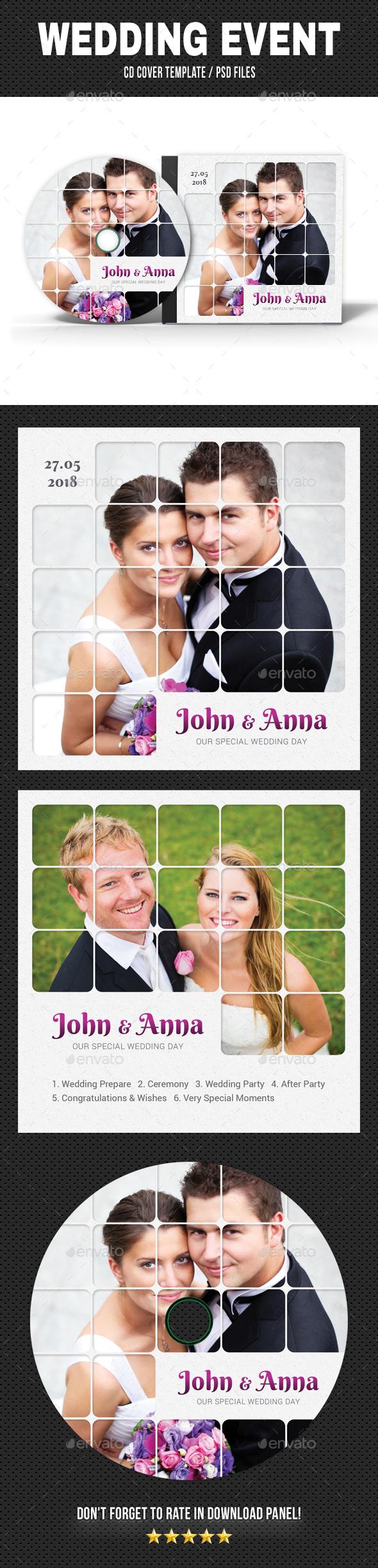 Wedding Event CD Cover v22 - CD & DVD Artwork Print Templates