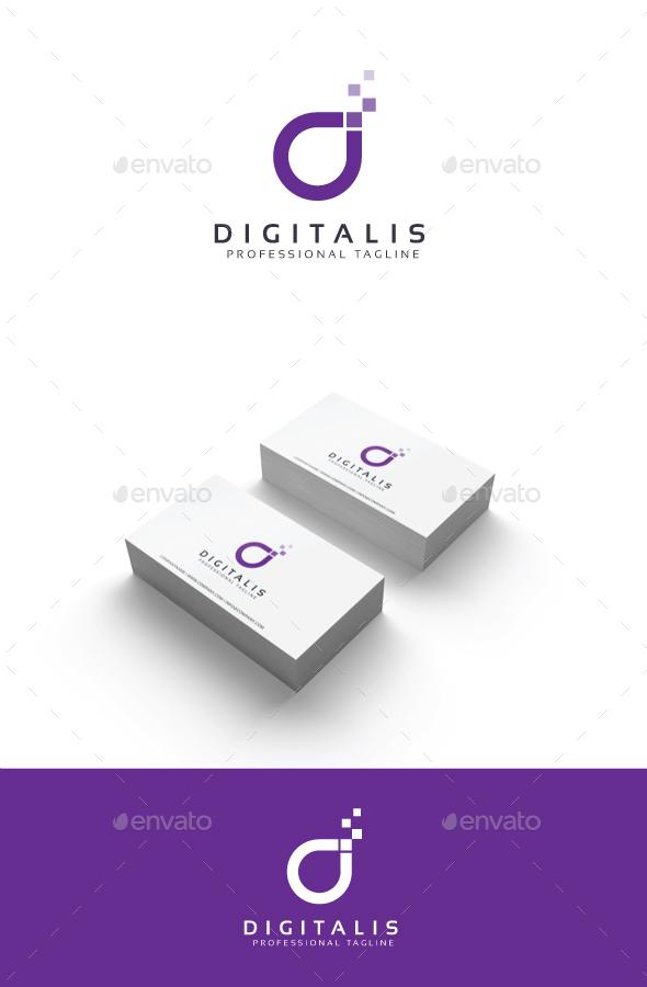 GraphicRiver Digitalis Logo 20365887