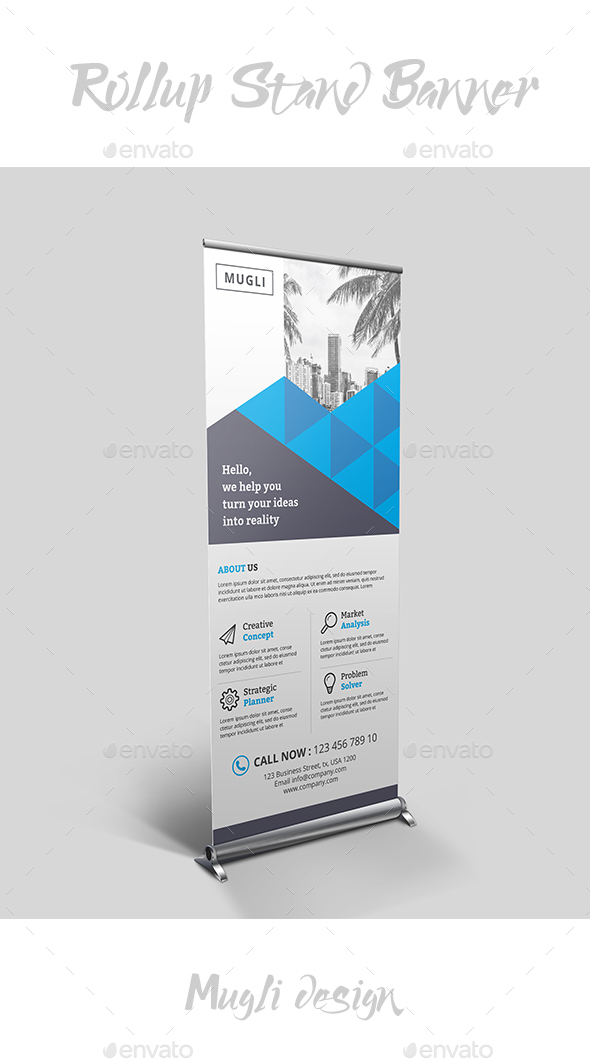 GraphicRiver Rollup Stand Banner 20365904