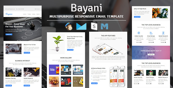 ThemeForest Bayani Multipurpose Responsive Email Template with Stampready Builder Access 20254910