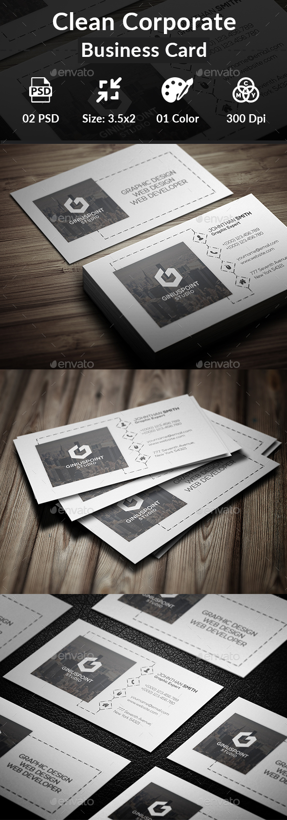 GraphicRiver Clean Corporate Business Card 20366236