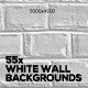 White Brick Wall Backgrounds - GraphicRiver Item for Sale