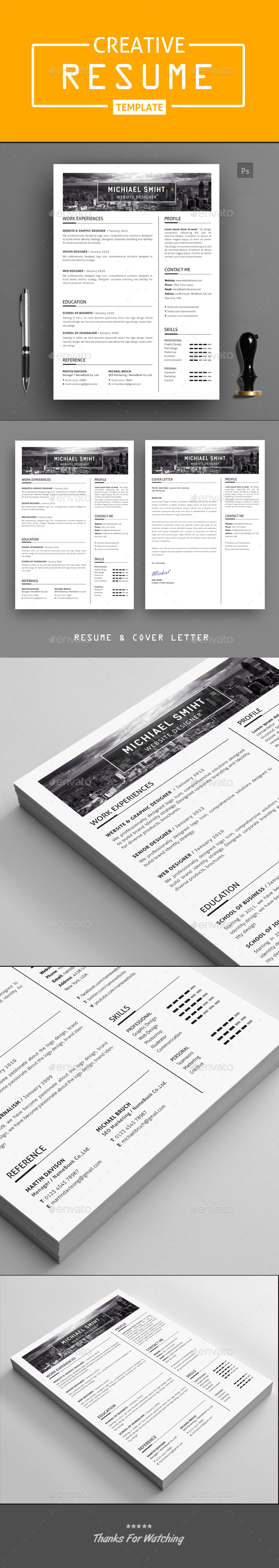 GraphicRiver resume 20366324