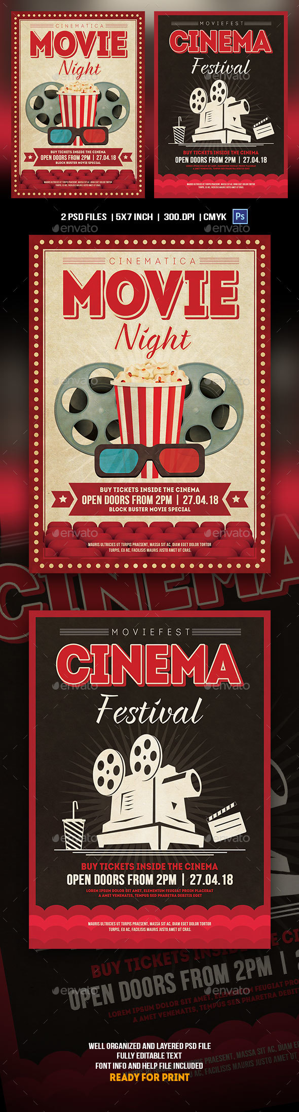 Cinema Flyer Template - Events Flyers