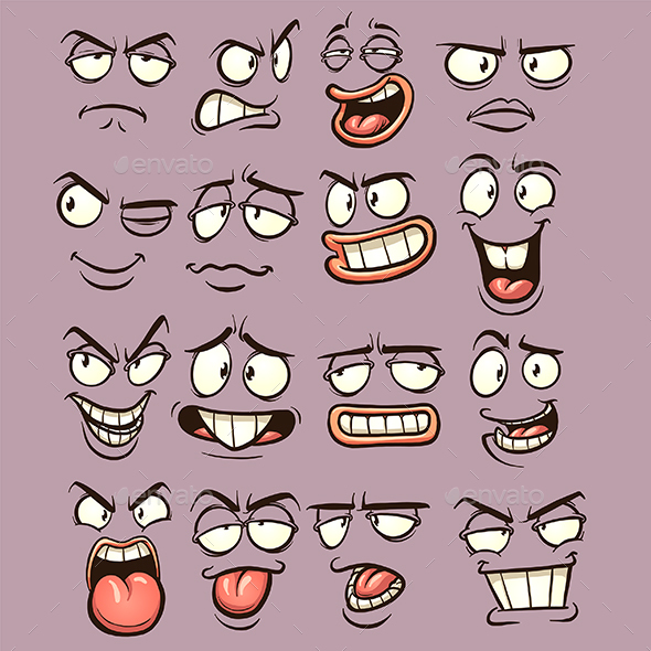 GraphicRiver Cartoon Faces 20366458