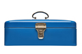 Old and heavy vintage blue metal chest - PhotoDune Item for Sale