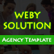 WebySolution - One Page Responsive HTML5 Agency Template - ThemeForest Item for Sale
