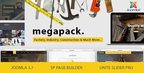 Mega Pack - Factory, Industry, Construction Joomla Template - Business Corporate
