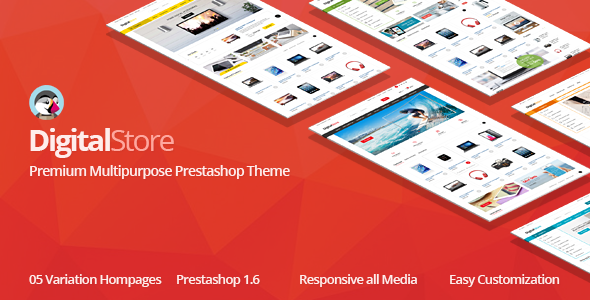 Digital Responsive Prestashop 1.6, 1.7 Theme