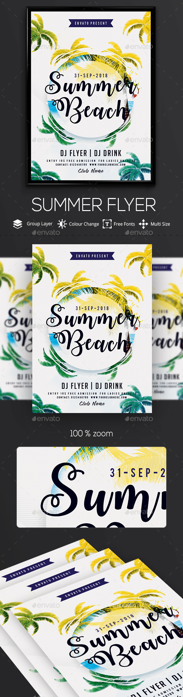 GraphicRiver Summer Chill PSD Flyer Template 20367258