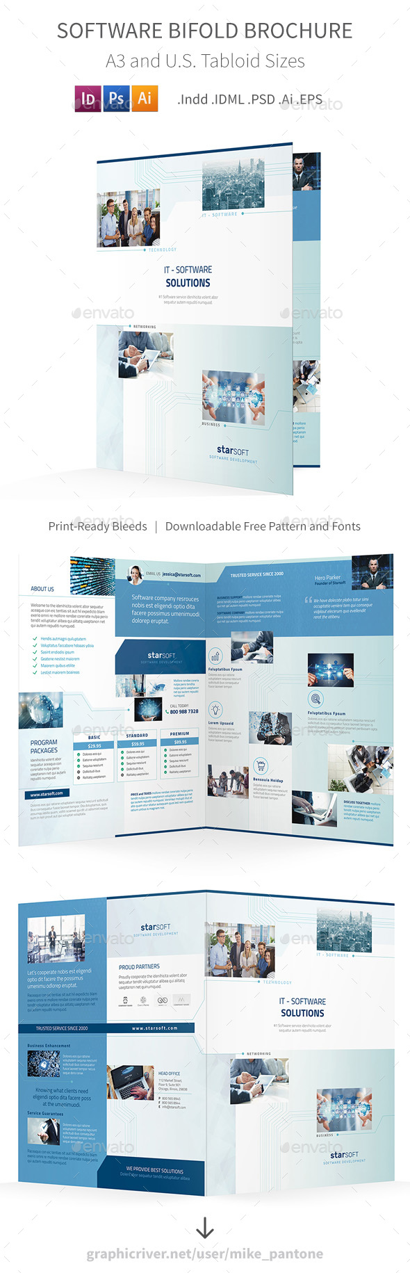 GraphicRiver Software Business Bifold Halffold Brochure 20367631