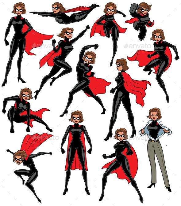 Super Heroine Set - People Characters