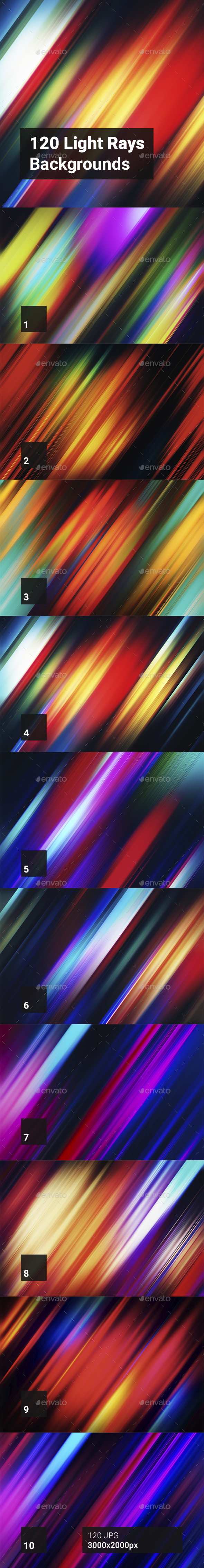 GraphicRiver 120 Light Rays Backgrounds 20367760