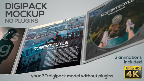 Digipack Mockup - No Plugins