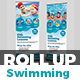 Kids Swimming Training Roll-Up Banner