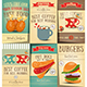 Fast Food and Coffee Posters Set