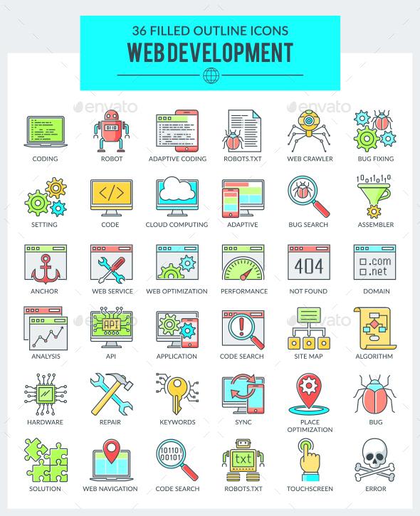 WEB Development and Programming Icons - Web Icons