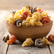 Trottole pasta in a wooden bowl - PhotoDune Item for Sale