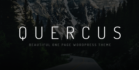 Quercus - Responsive One Page WordPress Theme