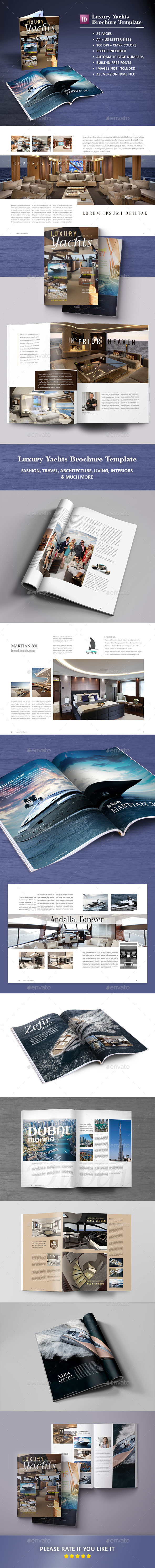 Luxury Yachts Brochure Template - Catalogs Brochures