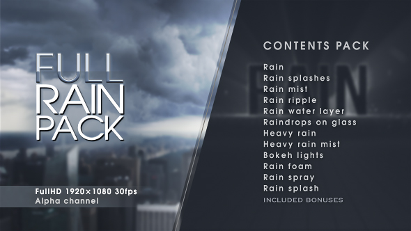 Rain 19558912 - After effects & Motion Graphics (Videohive)