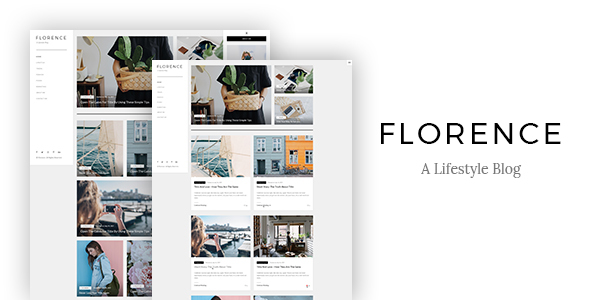 Florence - A Lifestyle Blog PSD Template