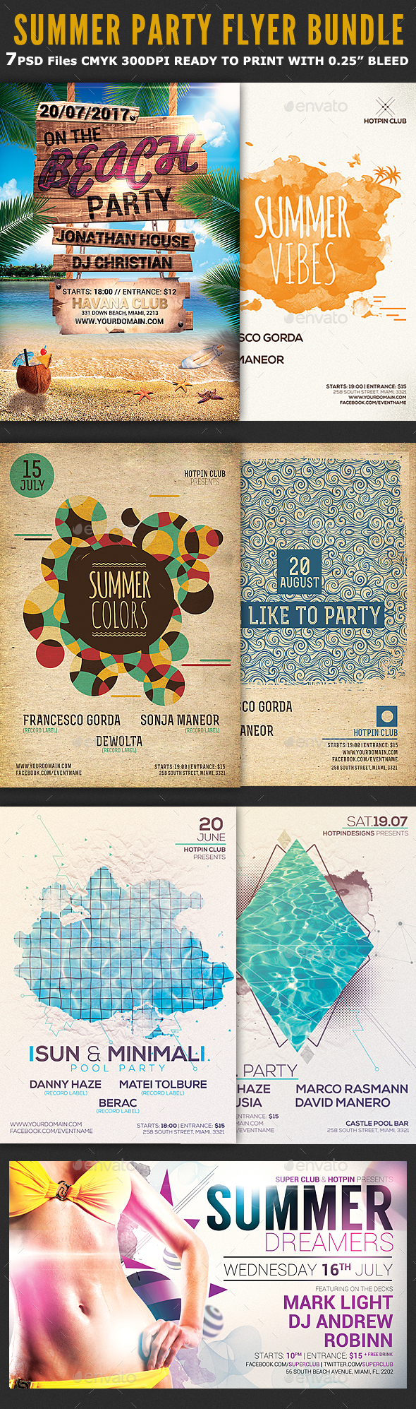 GraphicRiver Summer Party Psd Flyer Bundle 20368518