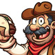Mexican Cowboy with Taco