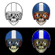 Biker Skull Stripe Helmet With 4 Style Color