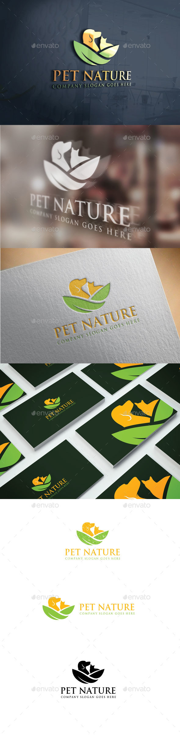 Pet Nature Logo - Animals Logo Templates