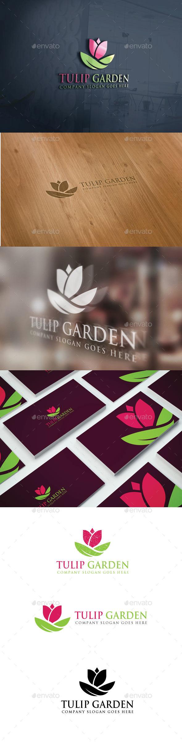 Tulip Garden Logo - Nature Logo Templates