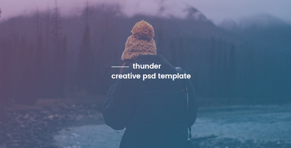 Thunder - Creative PSD Template - Creative PSD Templates