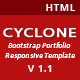 Cyclone-Bootstrap Portfolio Responsive Template