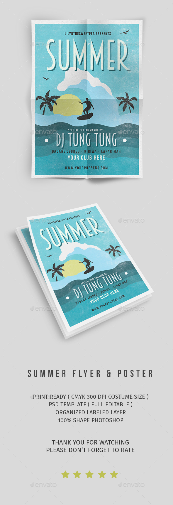 GraphicRiver Summer Party Flyer vol 9 20369273