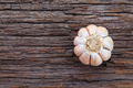 Garlic whole on the wooden background - PhotoDune Item for Sale