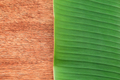 Banana leaf on the wooden board - PhotoDune Item for Sale