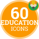 Education Science School - Flat Animated Icons and Elements