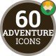 Sport Tourism Adventure Journey Trip - Flat Animated Icons and Elements