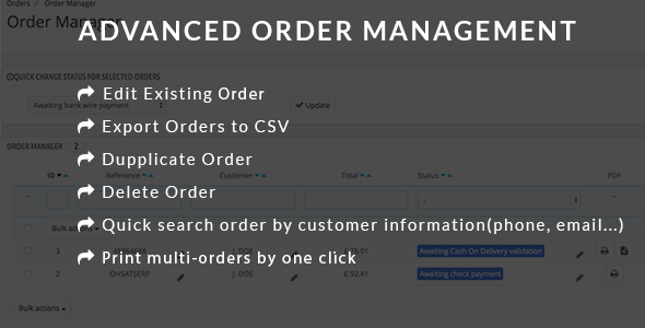CodeCanyon Advanced Order Management Edit Delete Export Duplicate Order Module 20370119