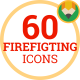 Firefighter, Fireman, Emergency - Fire Flat Icons