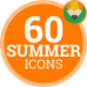 Summer Holiday Vacation Travel - Flat Animated Icons and Elements