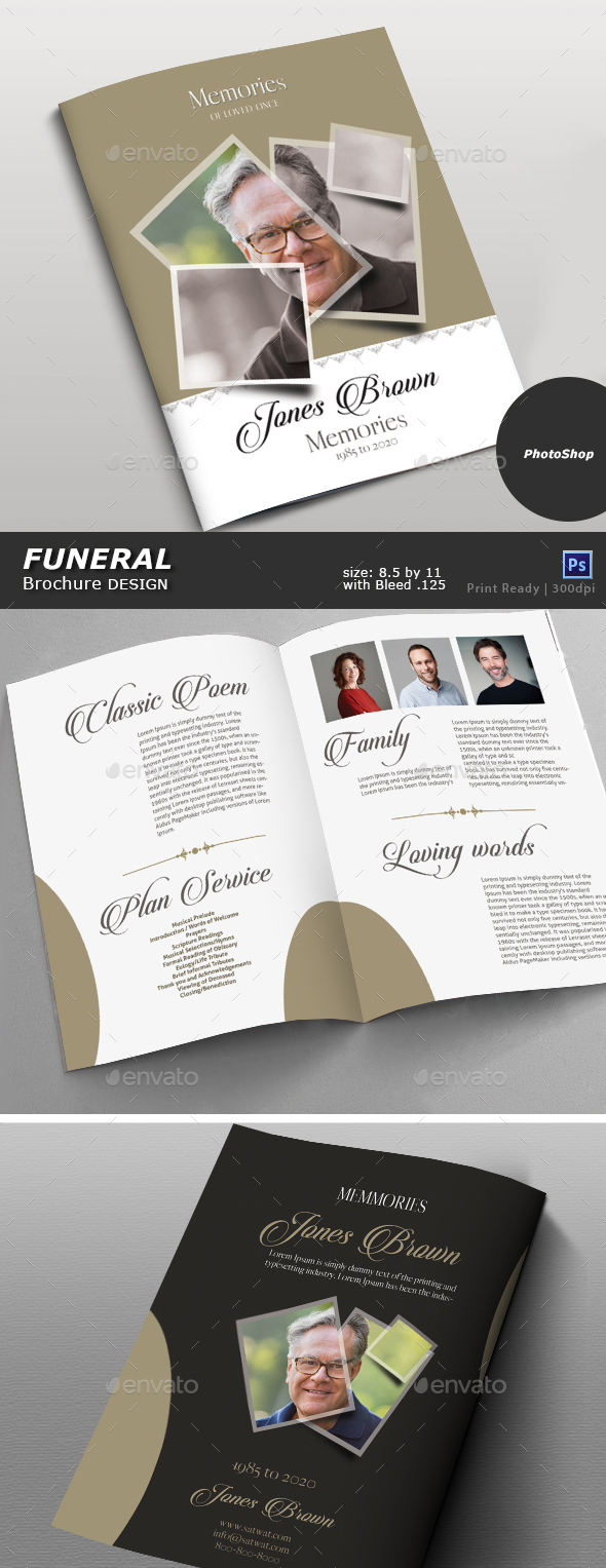 GraphicRiver Funeral Brochure Design 20370160