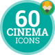 Movie Cinema Entertainment - Flat Animated Icons and Elements