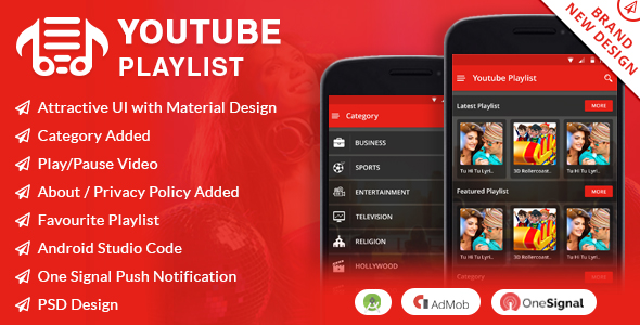 Yoututbe PlayList App - CodeCanyon Item for Sale